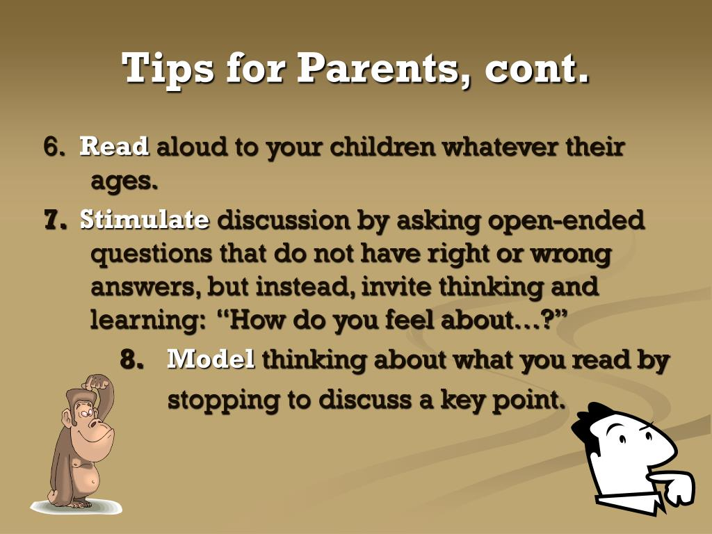 Tips for Parents, cont.