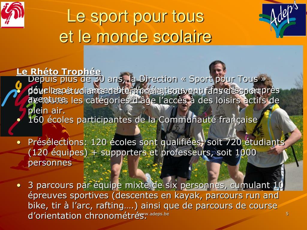 Le sport pour tous