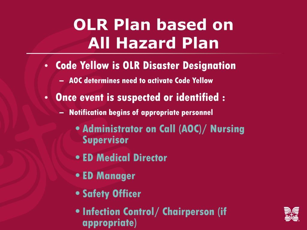 OLR Plan based on