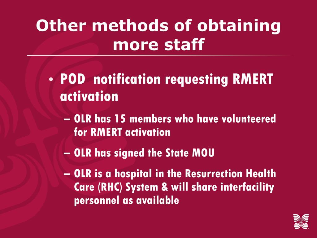 Other methods of obtaining more staff