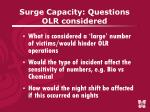 surge capacity questions olr considered