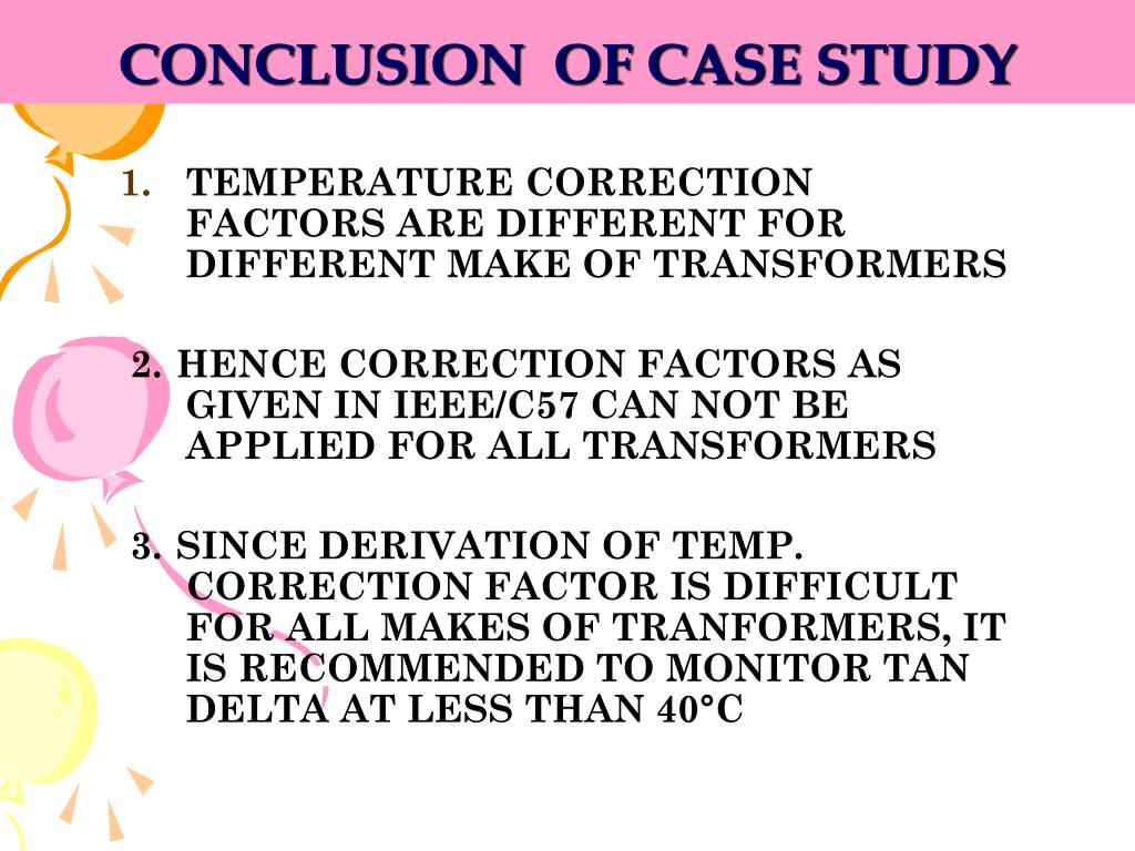 CONCLUSION  OF CASE STUDY