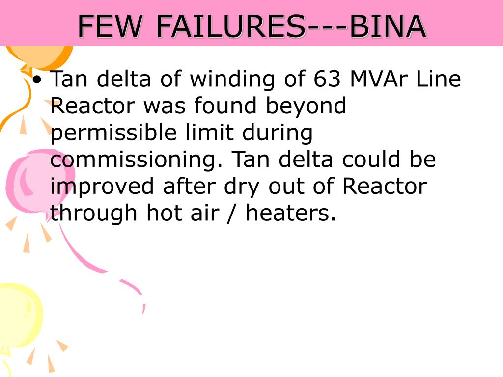 FEW FAILURES---BINA