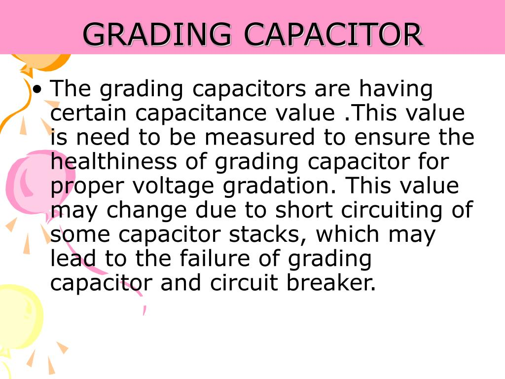 GRADING CAPACITOR