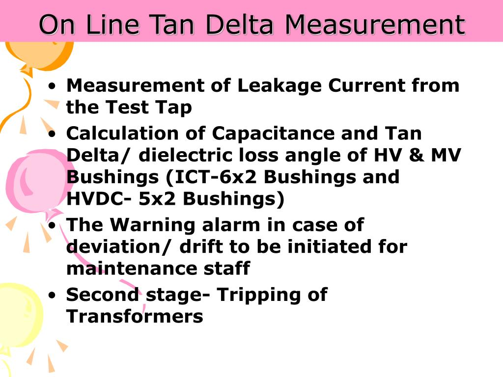 On Line Tan Delta Measurement