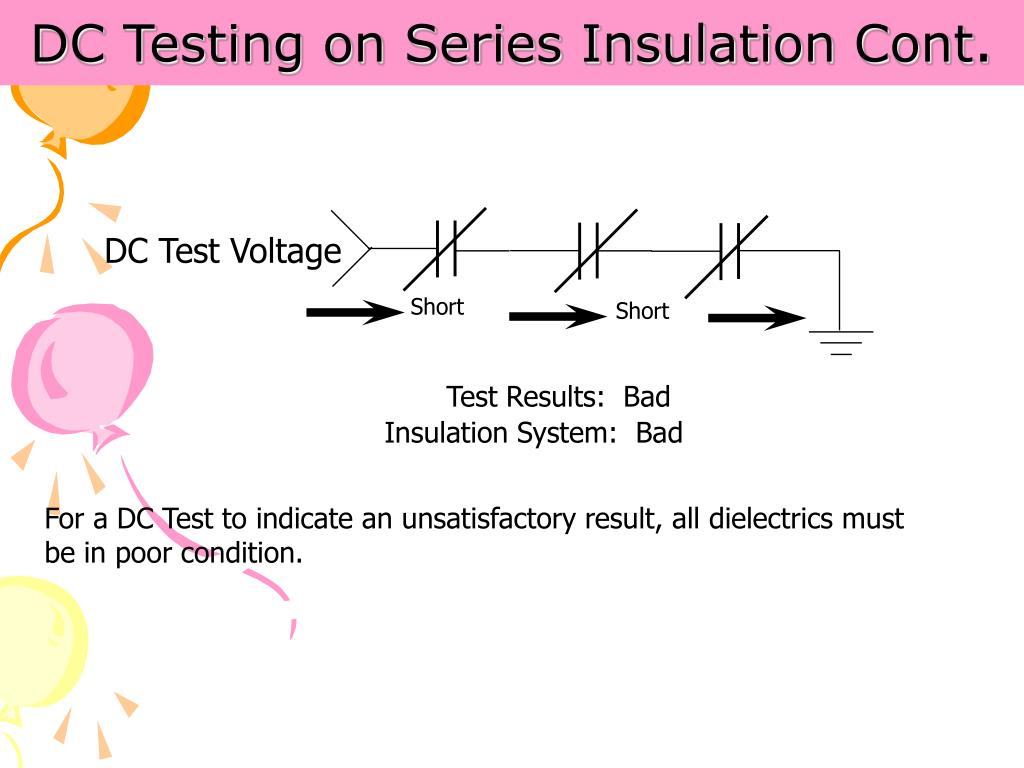 DC Testing on Series Insulation Cont