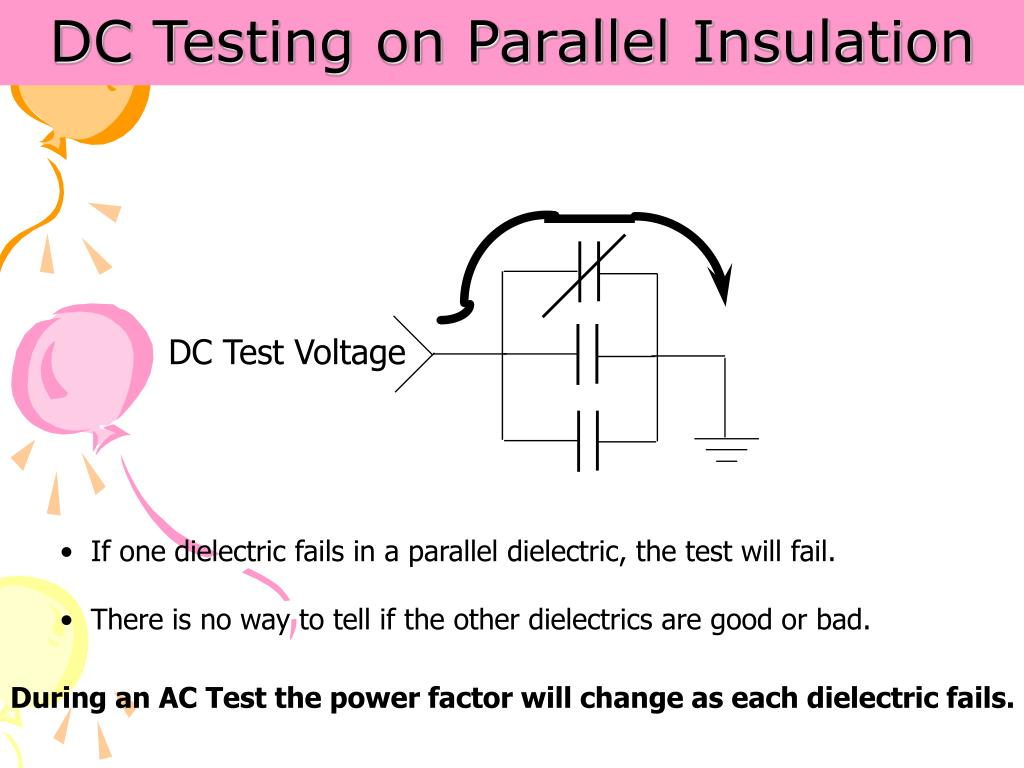 DC Testing on Parallel Insulation