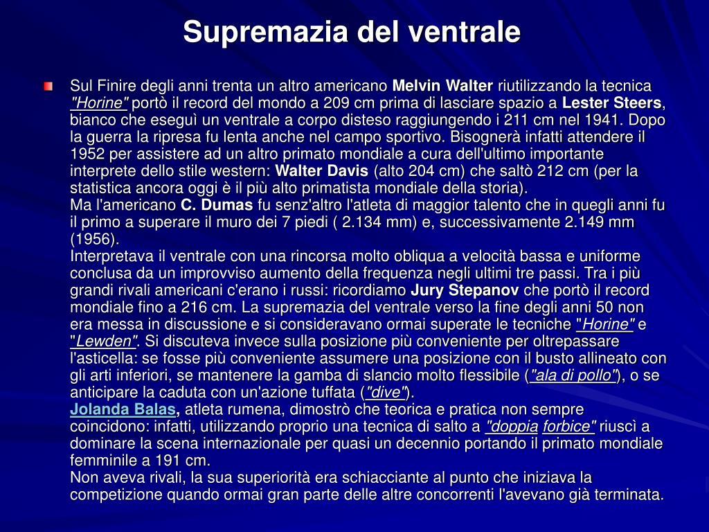 Supremazia del ventrale