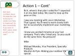action 1 cont