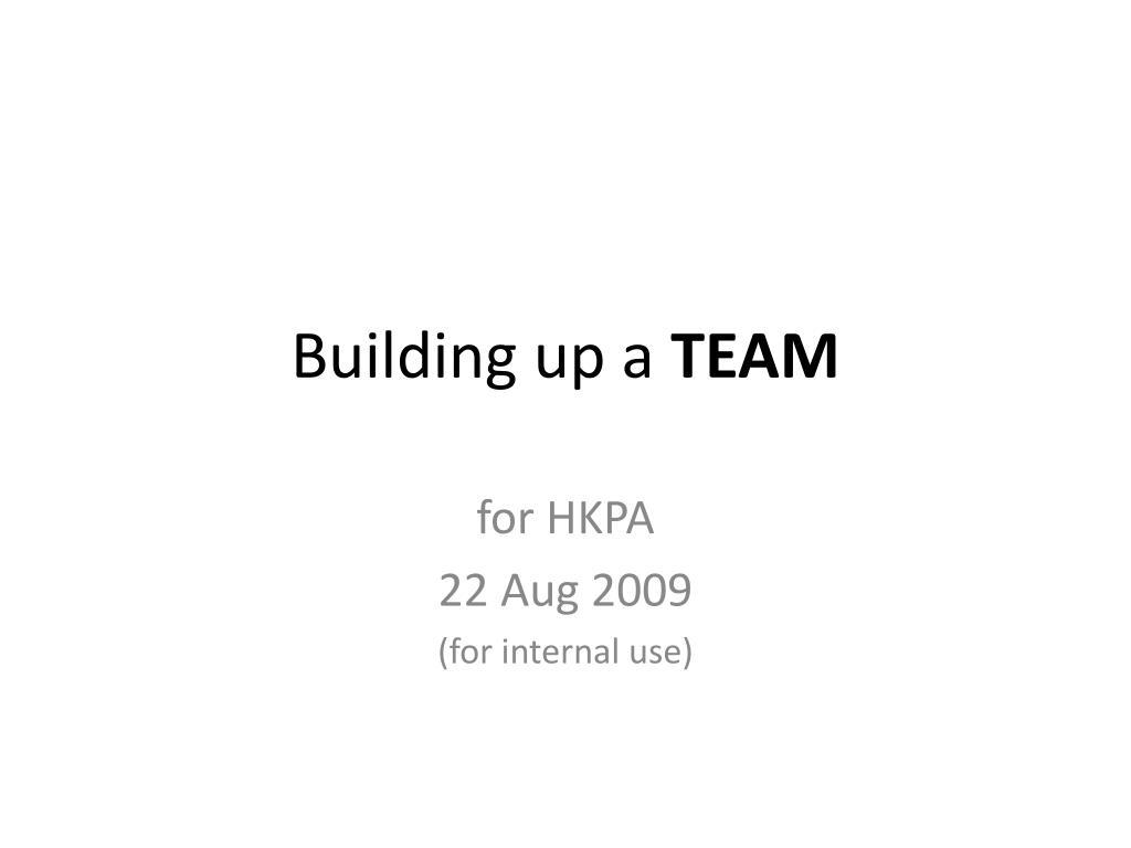 building up a team