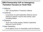 idea partnership cop on interagency transition focuses on youth role
