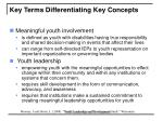key terms differentiating key concepts8