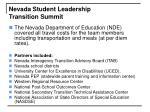 nevada student leadership transition summit20