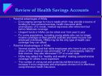 review of health savings accounts15