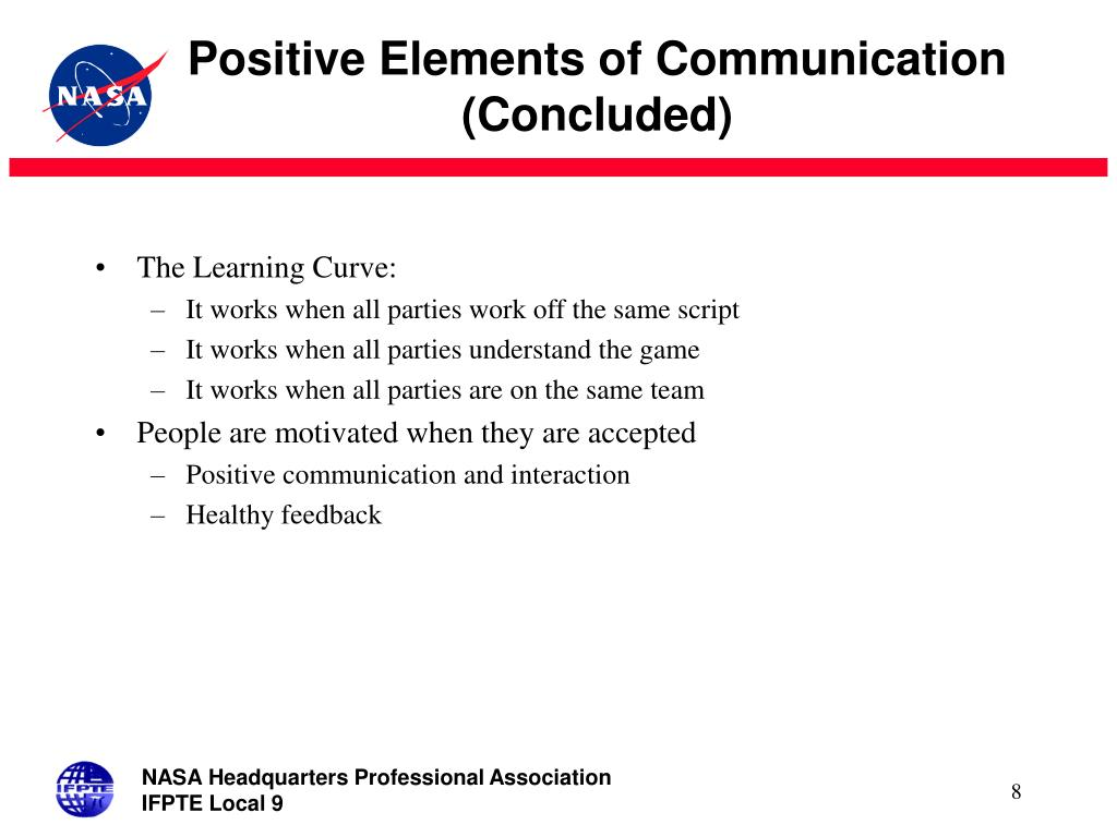 Positive Elements of Communication (Concluded)