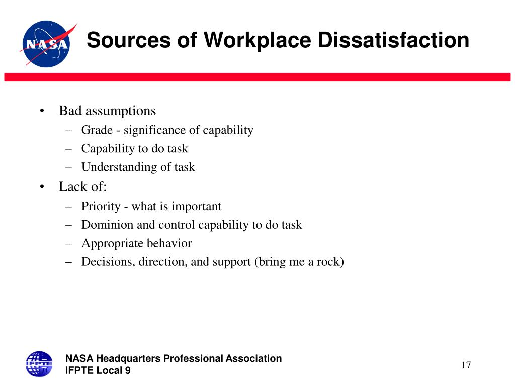 Sources of Workplace Dissatisfaction