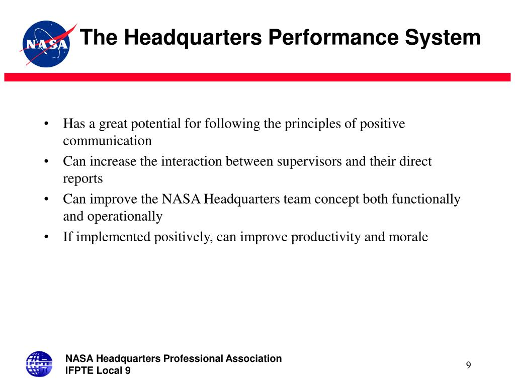 The Headquarters Performance System