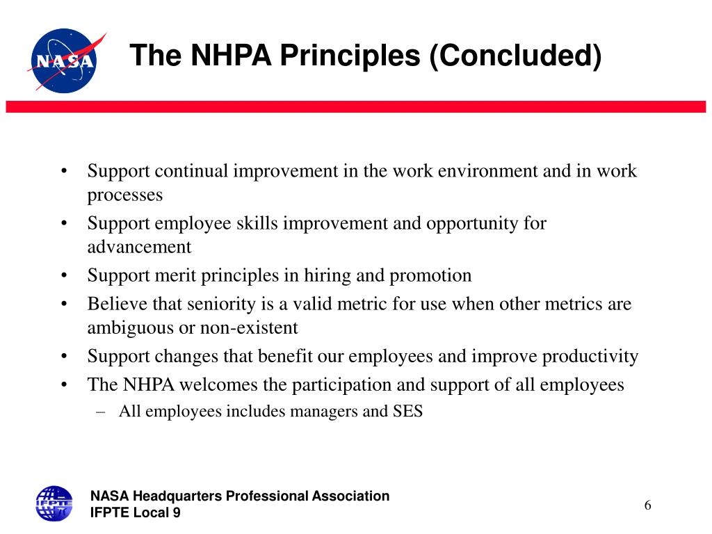 The NHPA Principles (Concluded)