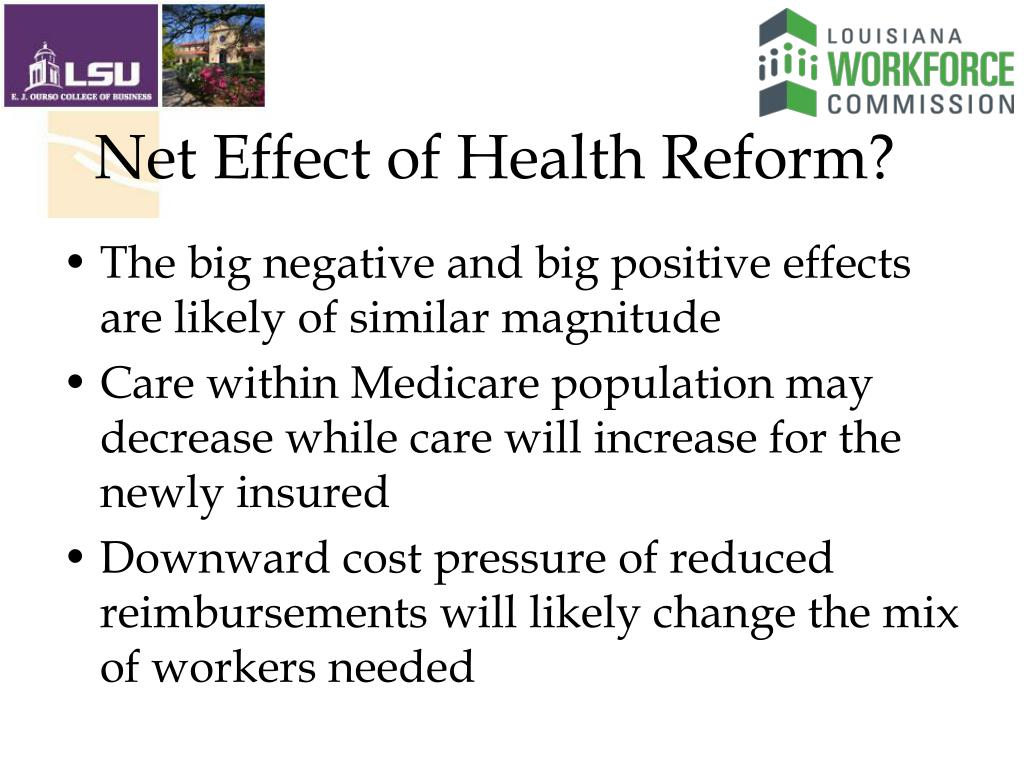 Net Effect of Health Reform?