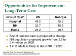opportunities for improvement long term care