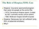 the role of hospice eol care