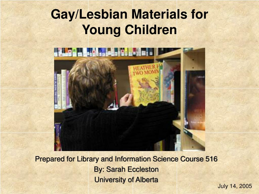 gay lesbian materials for young children