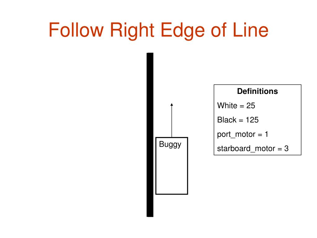 Follow Right Edge of Line