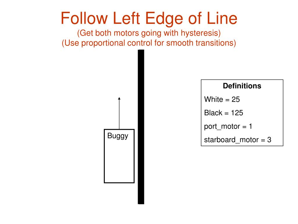 Follow Left Edge of Line