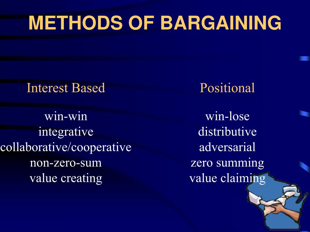 METHODS OF BARGAINING