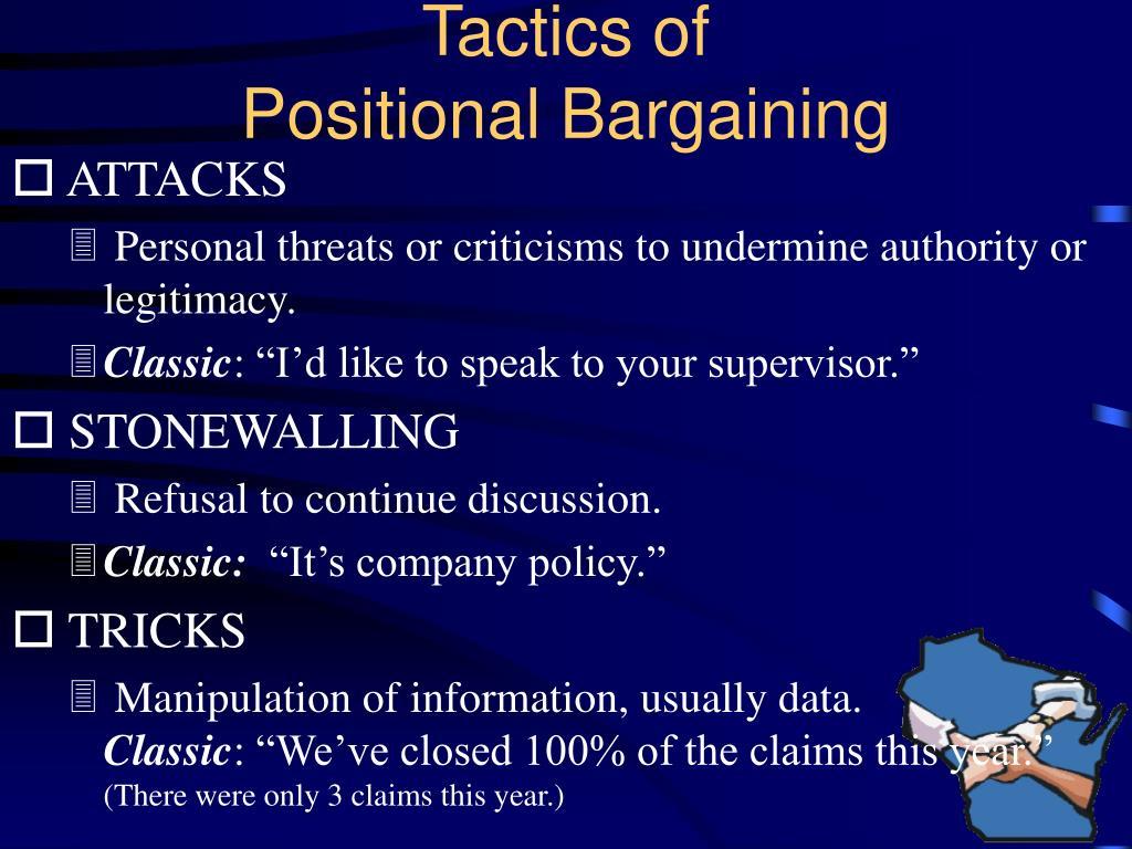Tactics of