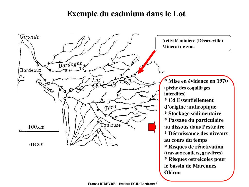 Exemple du cadmium dans le Lot