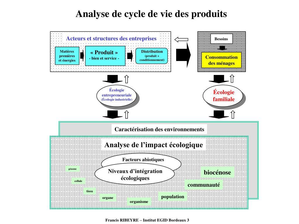 Analyse de cycle de vie des produits