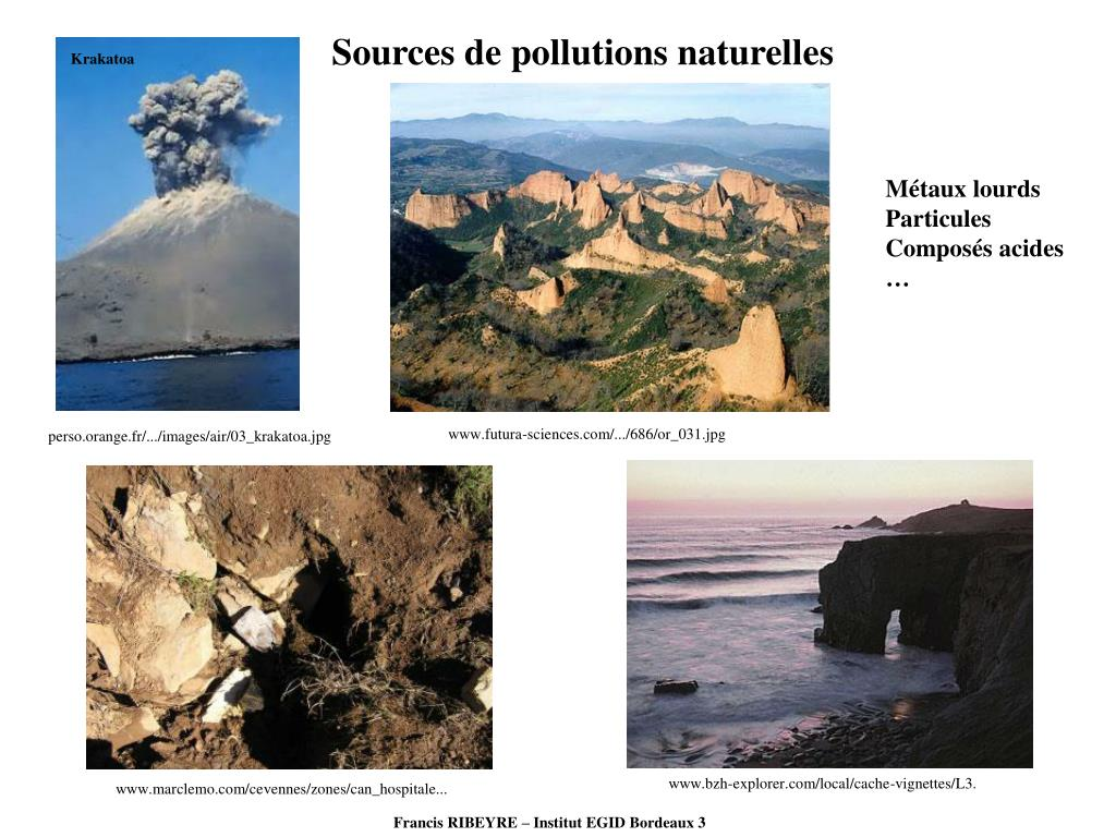 Sources de pollutions naturelles