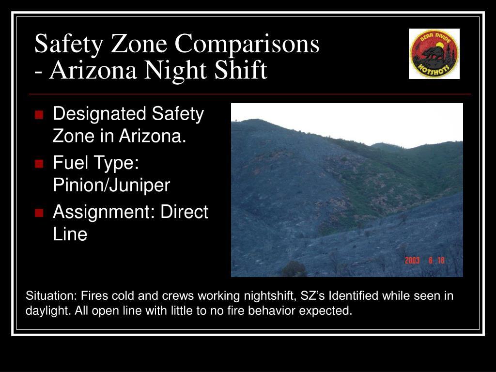 safety zone comparisons arizona night shift