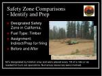 safety zone comparisons identify and prep