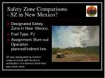 safety zone comparisons sz in new mexico