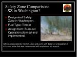 safety zone comparisons sz in washington