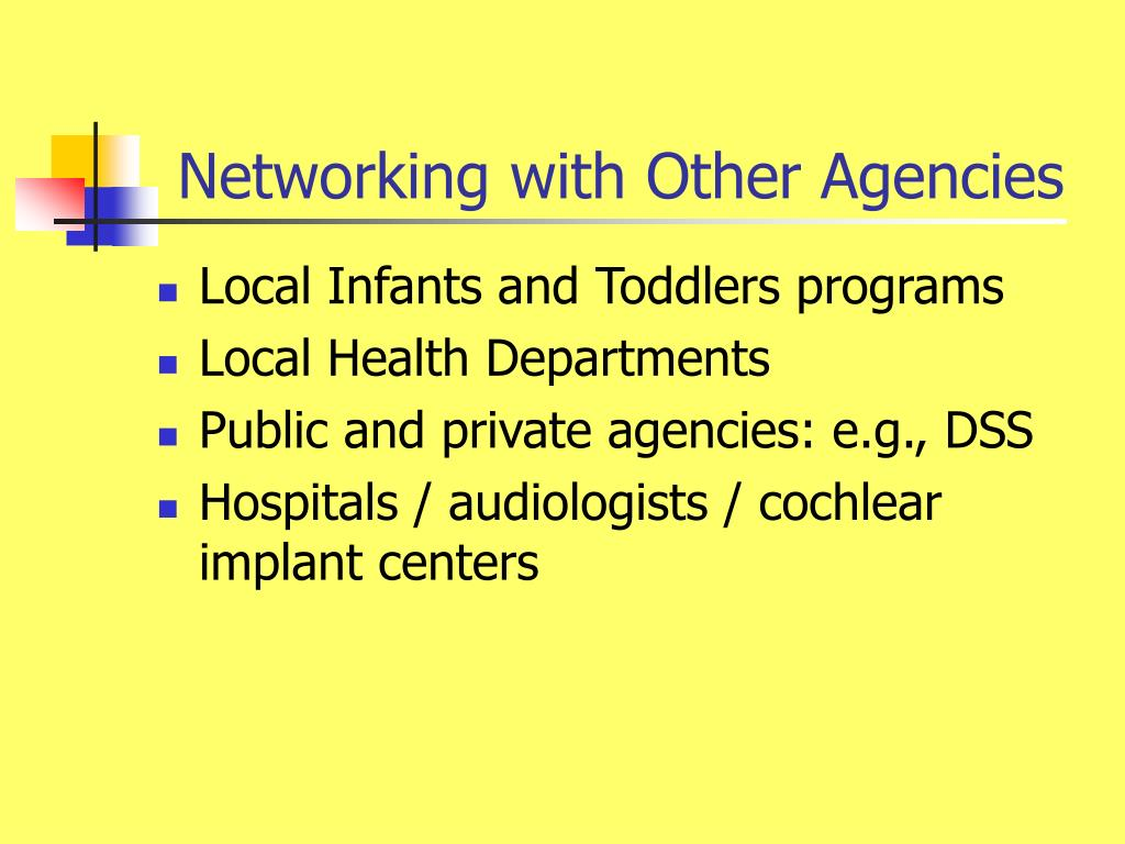 Networking with Other Agencies