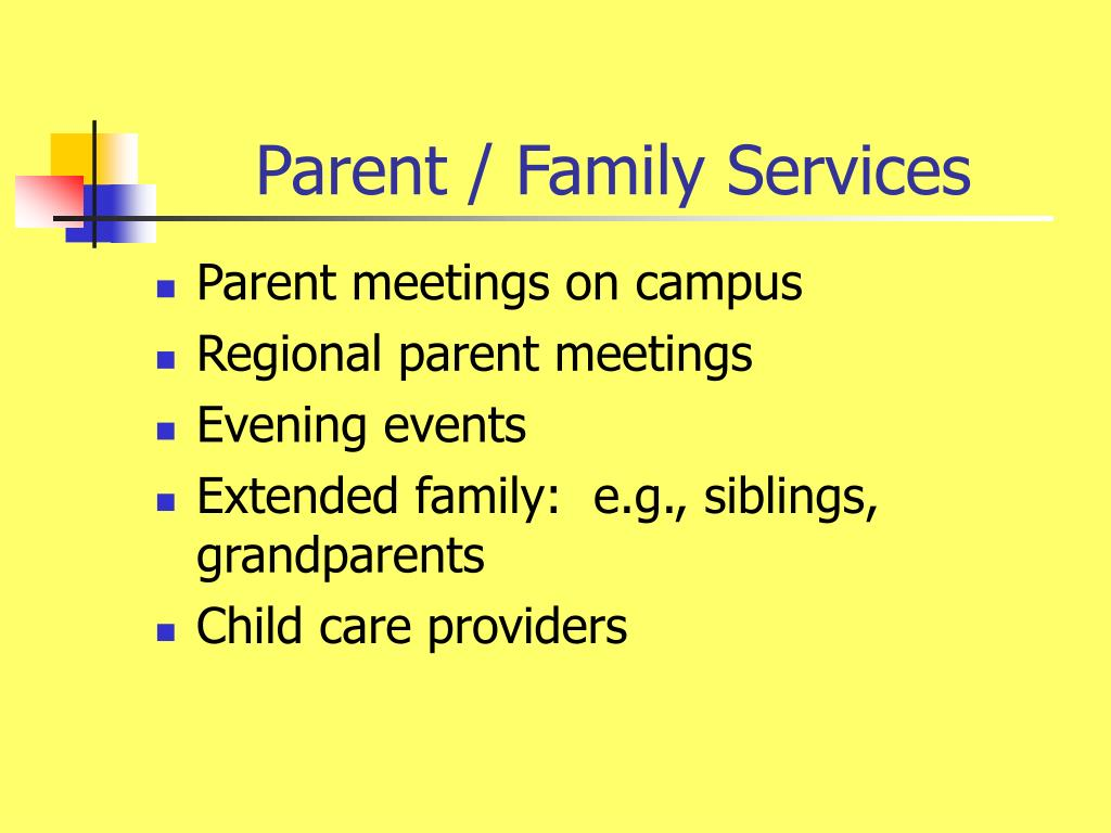 Parent / Family Services