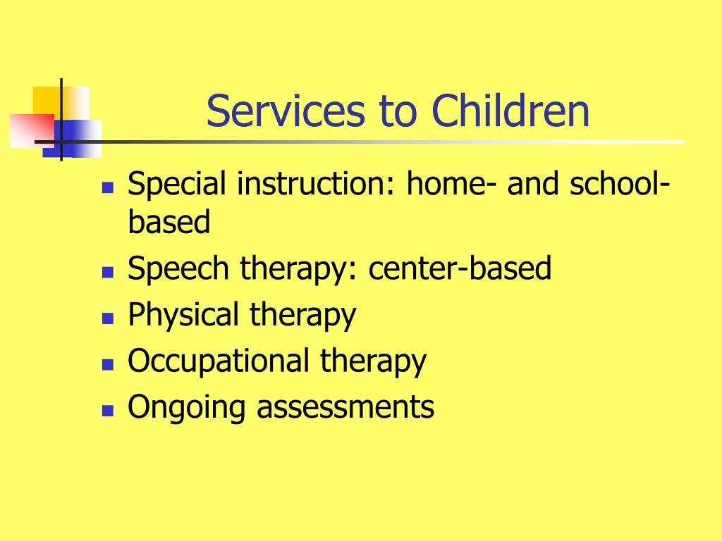 Services to Children
