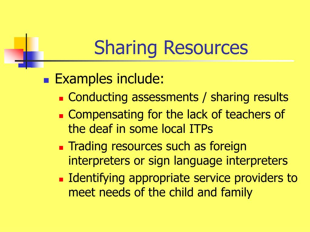 Sharing Resources