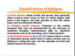 classifications of epilepsy