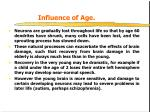 influence of age