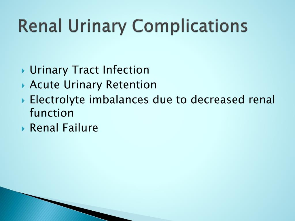 Renal Urinary Complications