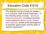 education code 51210