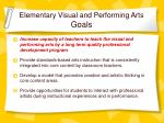 elementary visual and performing arts goals