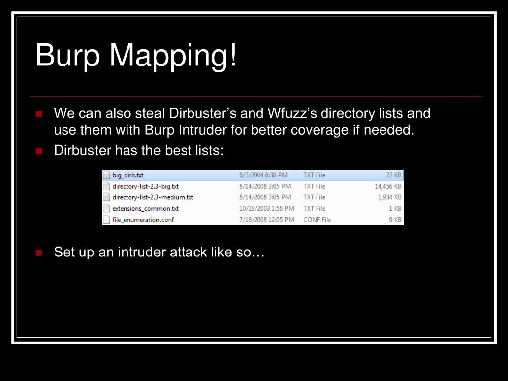 Burp Mapping!