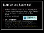 burp va and scanning