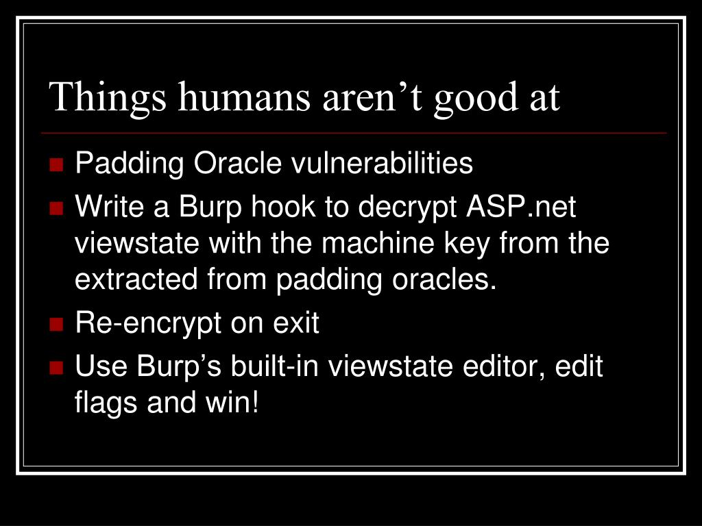 Padding Oracle vulnerabilities