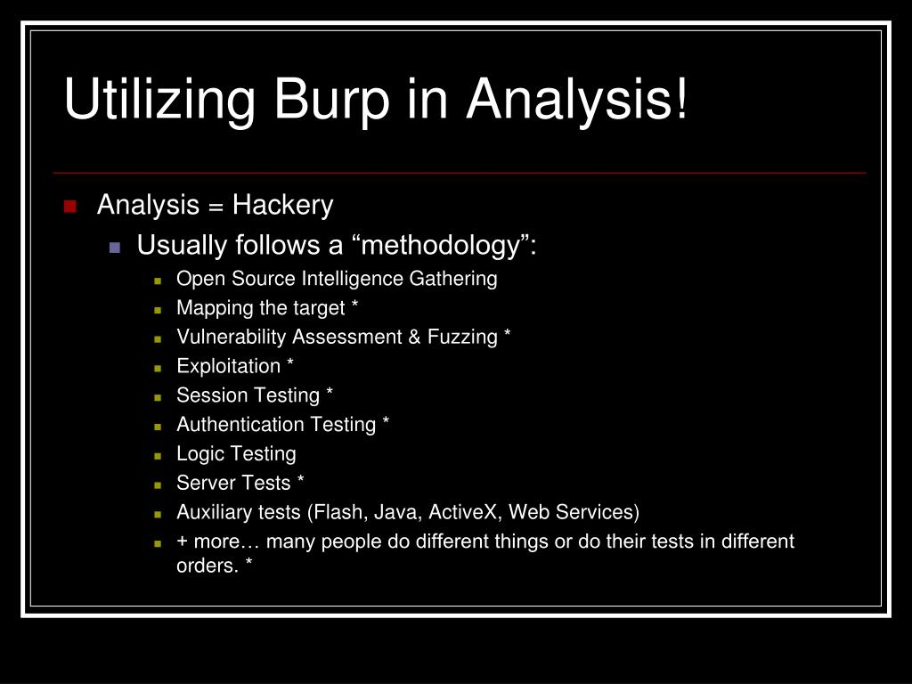 Utilizing Burp in Analysis!